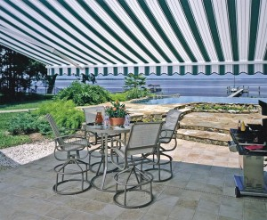 Sunesta awnings like this one can transform any outdoor area into your own personal oasis.