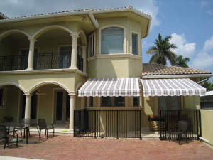 Retractable awnings for  residential exterior designs