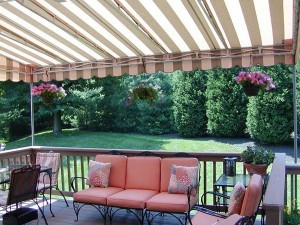 Fabric choices for residential awnings