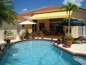 pool deck awnings