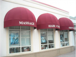massage business commercial awning
