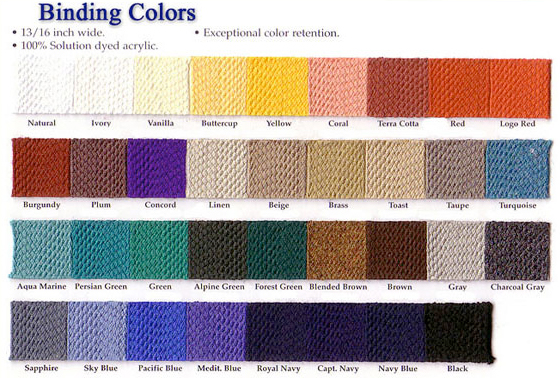 Binding Colors Awnings Amp Canopies Baltimore Md Dc Va