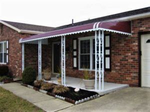 adding an aluminum awning