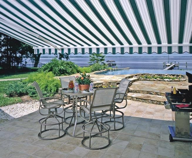 carroll architectural shade retractable patio awnings